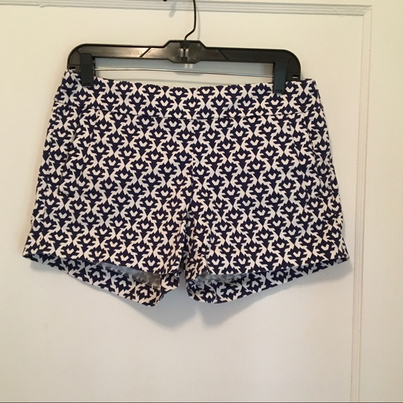 J. Crew Pants - J. Crew Blue & White Shorts Size 4